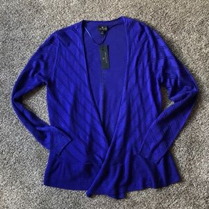 NWT Violet Long Sleeved Open Front Cardigan